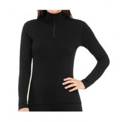W Bodyfit 200 Oasis LS Half Zip - Black