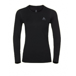 W Merino Warm CrewNeck LS - Black