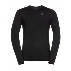 Merino Warm CrewNeck LS - Black