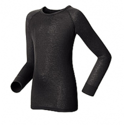 K Shirt LS Crew Neck Warm - Black