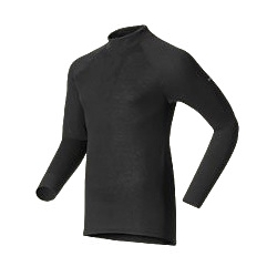 W Shirt LS Turtle Neck Warm - Black