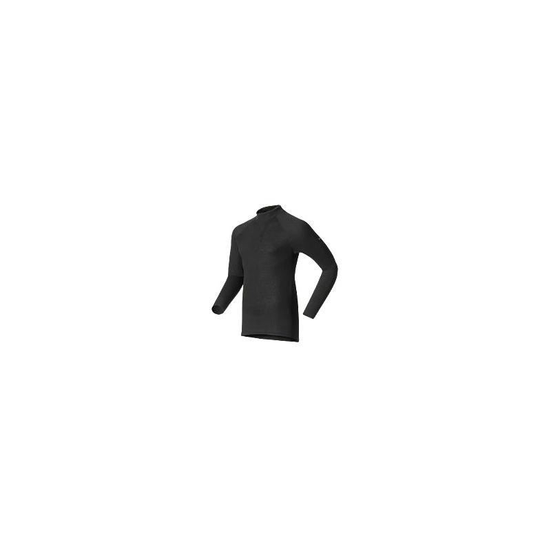 W Shirt LS Turtle Neck Warm - Black