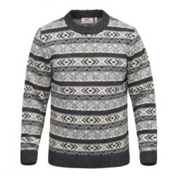 Ovik Folk Knit Sweater - Dark Grey