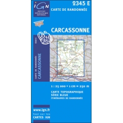 France Blauw 2345 Est Carcassonne  1/25.