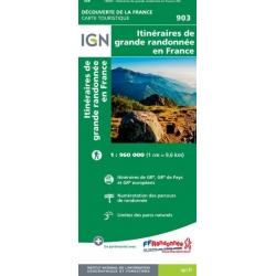 Franse GR paden op kaart  903