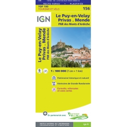 Le Puy-en-Velay / Privas 1:100.000 - 156