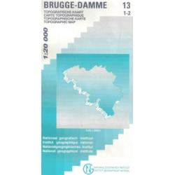 Brugge - Damme  1/20.000  13/1-2