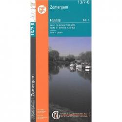 Knesselare-Zomergem 1/20.000 13/7-8