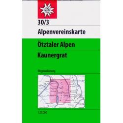 Otztaler Alpen Kaunergrat  30/3