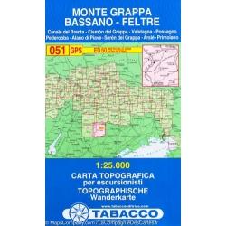 Monte Grappa 1/25.000