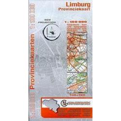 Provinciekaart Limburg 1/100.000