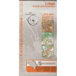 Provinciekaart Liège 1/100.000