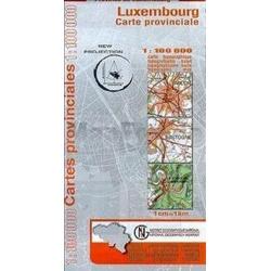 Luxembourg Provinciekaart  1/100.000