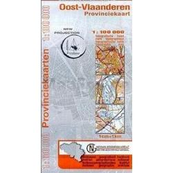 Provinciekaart Oost-Vlaanderen 1/100.000