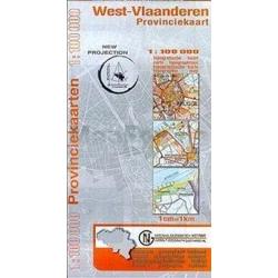 Provinciekaart West-Vlaanderen 1/100.000