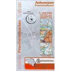 Provinciekaart Antwerpen 1/100.000