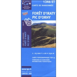 Foret d′Iraty-Pic  1346 ET  1/25.000 TO