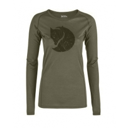 W Abisko Trail TS Printed LS - Laurel Gr