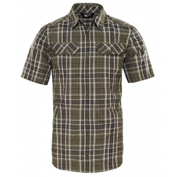 S/S Pine Knot Shirt - New Taupe Plaid