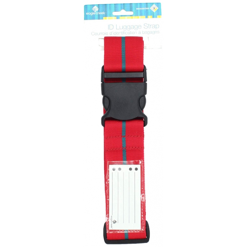 ID Luggage Strap - Cherry Red