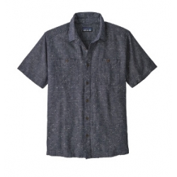 Back Step Shirt - Goshawk Dobby New Navy