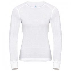 W Shirt Ls Crew Neck Warm - White