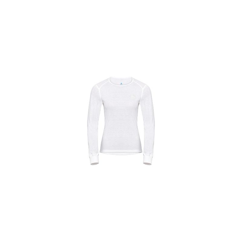 W Shirt Ls Crew Neck Warm - White