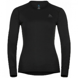 W BL Eco Top Crew Neck LS Active - Black