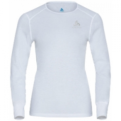 W BL Eco Top Crew Neck LS Active - White