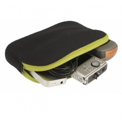 Padded Pouch L lime/zwart